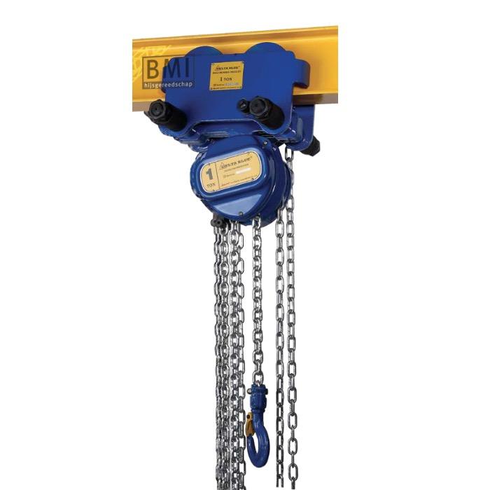BLUE handkettingtakel met kettingloopkat