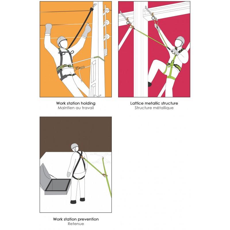 Basis harnas 2 rug en borst en 2 zij D ringen
