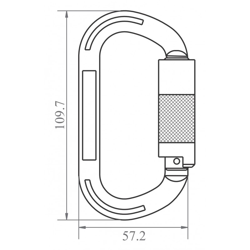 Karabijnhaak aluminium draaisluiting 14 mm