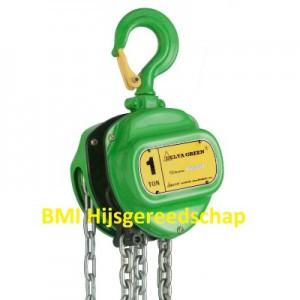 Green kettingtakel 1 ton